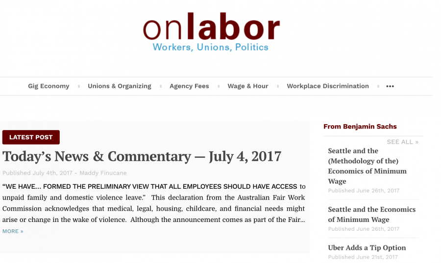 Onlabor.org Homepage